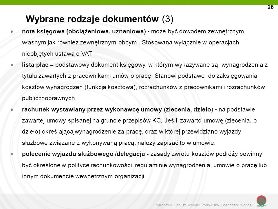 Wybrane rodzaje dokumentów (3)