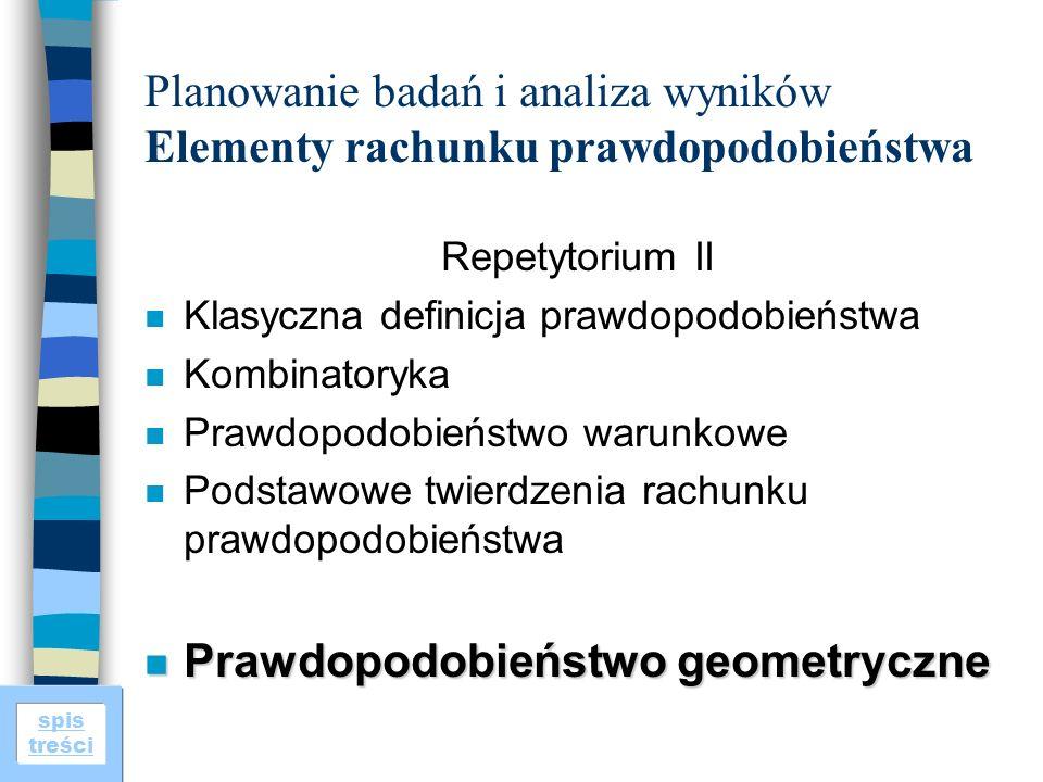 Prawdopodobieństwo geometryczne