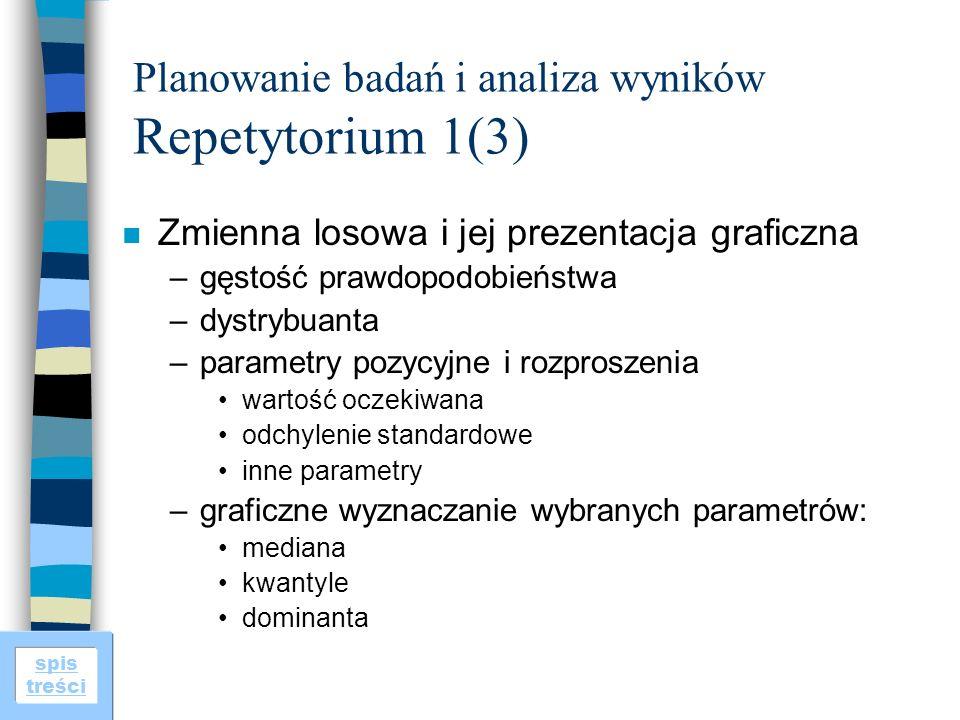 Planowanie badań i analiza wyników Repetytorium 1(3)