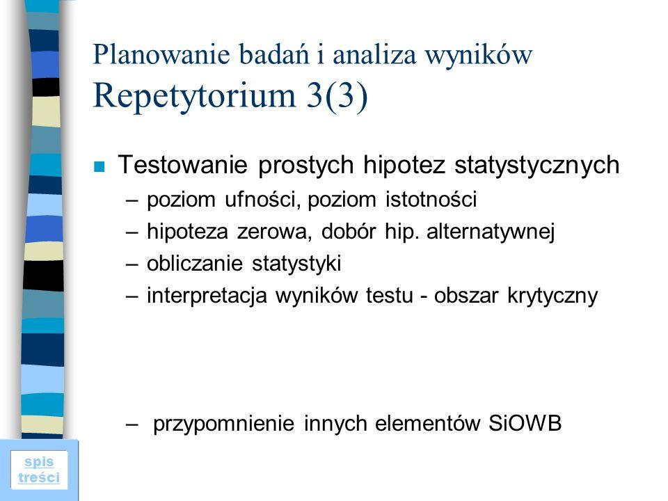 Planowanie badań i analiza wyników Repetytorium 3(3)
