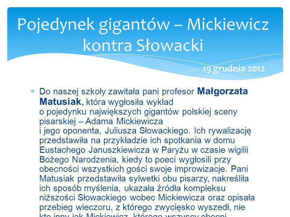 Pojedynek gigantów – Mickiewicz kontra Słowacki