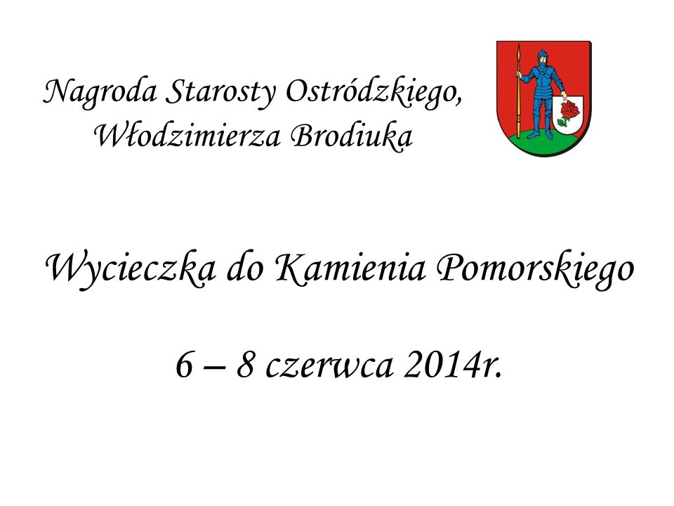 Nagroda Starosty Ostródzkiego, Włodzimierza Brodiuka