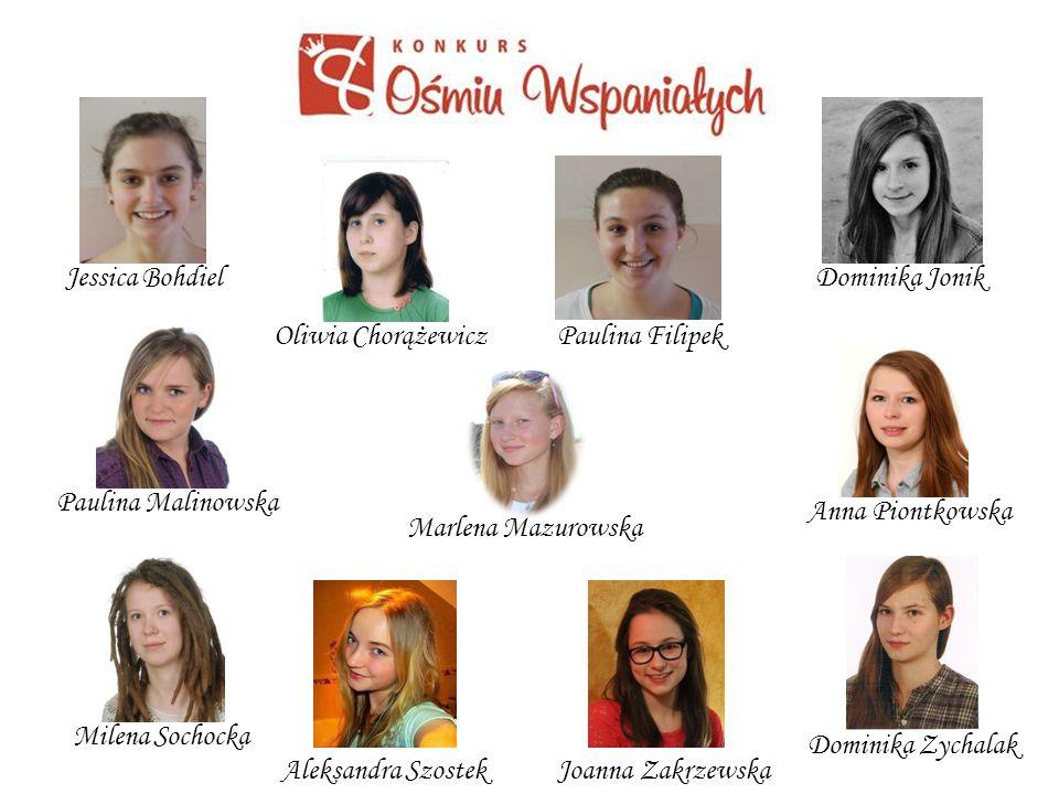 Jessica Bohdiel Dominika Jonik. Oliwia Chorążewicz. Paulina Filipek. Paulina Malinowska. Anna Piontkowska.