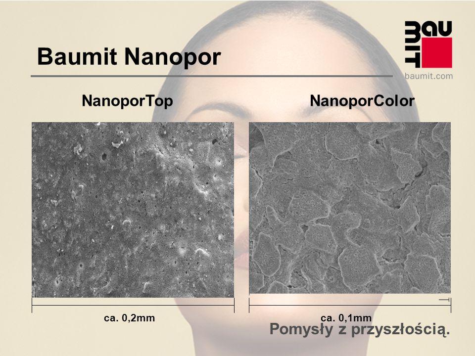 Baumit Nanopor NanoporTop NanoporColor ca. 0,2mm ca. 0,1mm