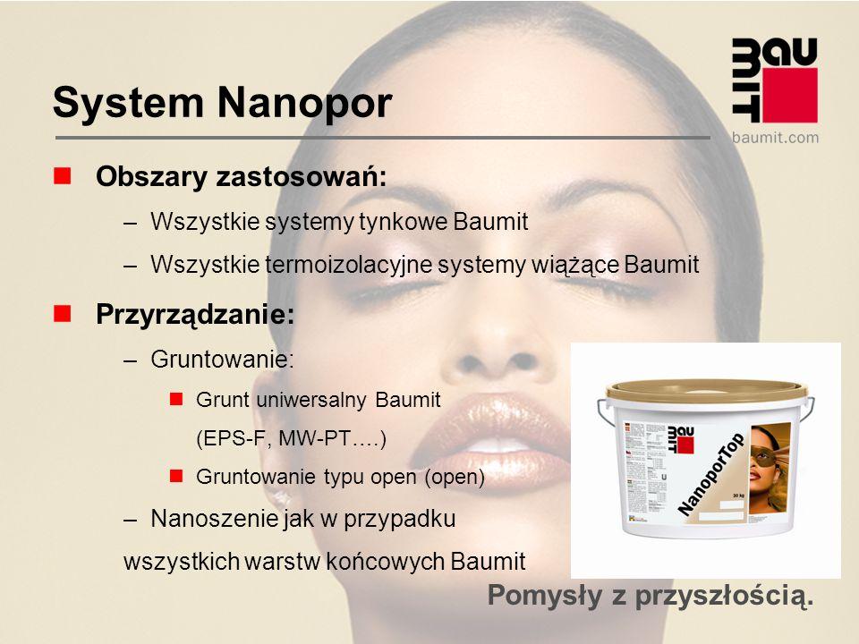 System Nanopor Obszary zastosowań: Przyrządzanie: