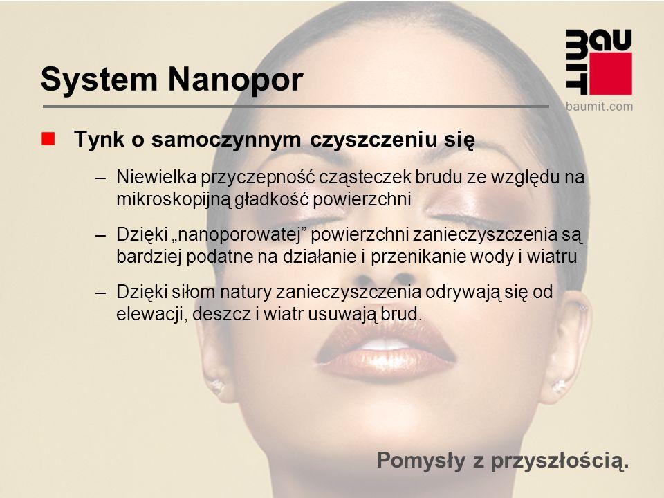 System Nanopor Tynk o samoczynnym czyszczeniu się