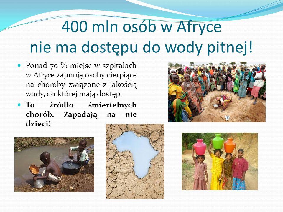 400 mln osób w Afryce nie ma dostępu do wody pitnej!