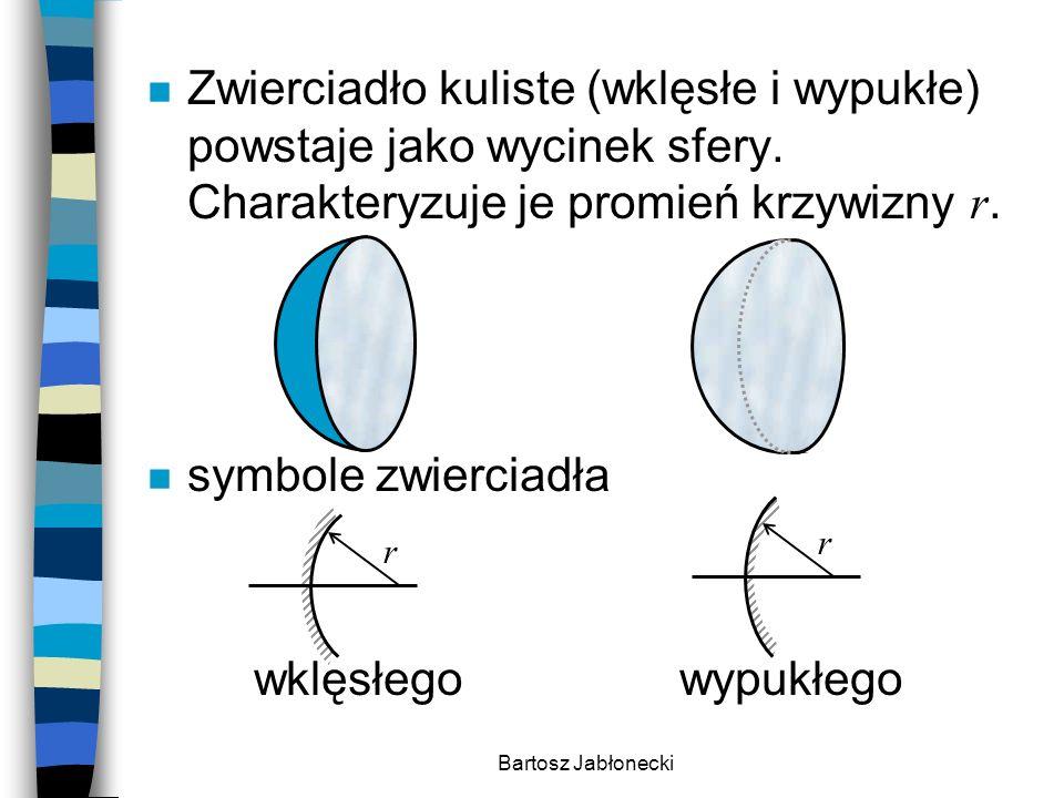 Zwierciadło kuliste (wklęsłe i wypukłe) powstaje jako wycinek sfery