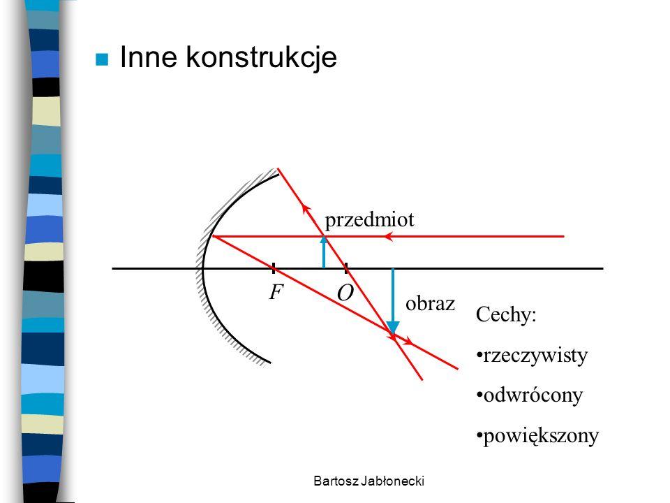 Inne konstrukcje O przedmiot F obraz Cechy: rzeczywisty odwrócony