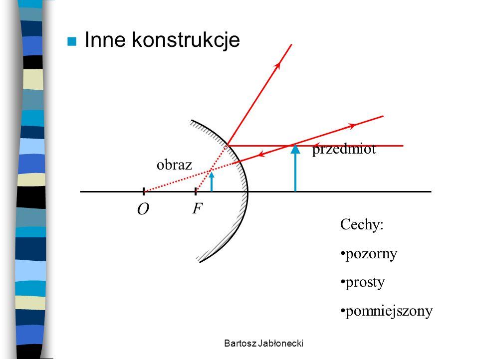 Inne konstrukcje O przedmiot obraz F Cechy: pozorny prosty