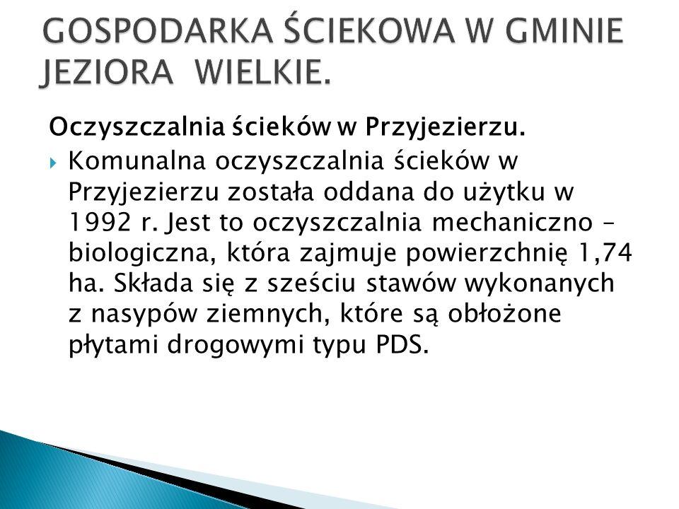 GOSPODARKA ŚCIEKOWA W GMINIE JEZIORA WIELKIE.