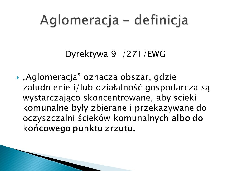 Aglomeracja - definicja