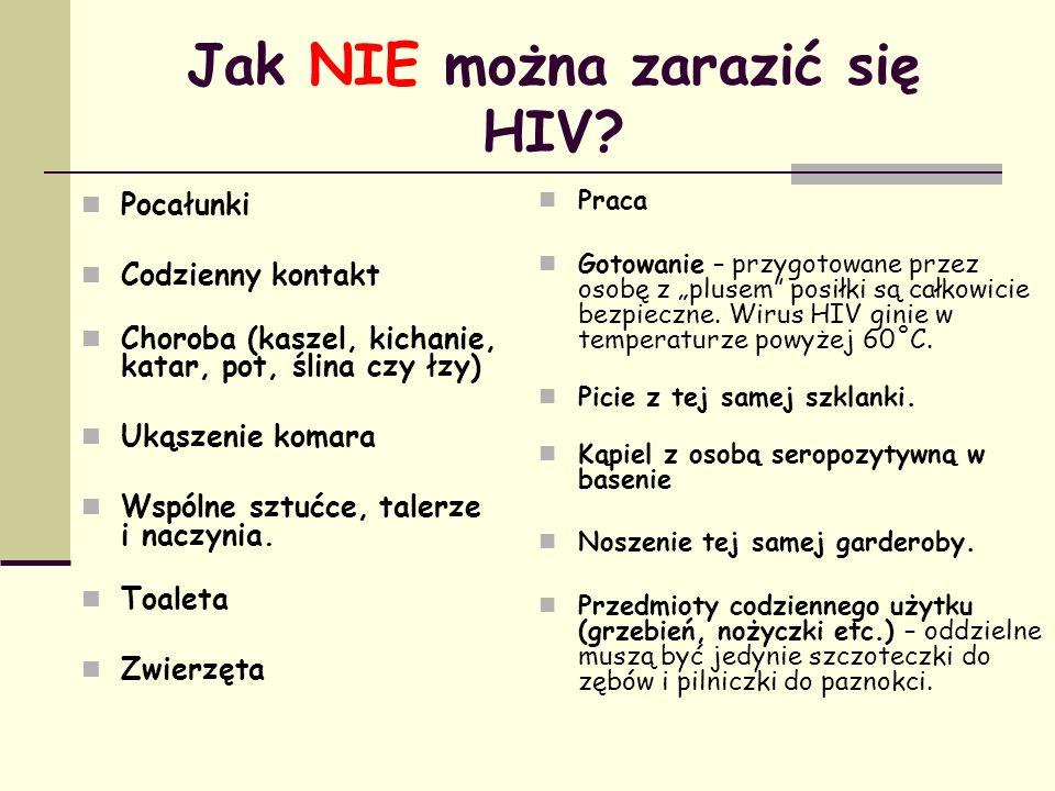 Jak NIE można zarazić się HIV
