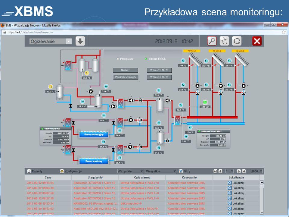 Przykładowa scena monitoringu: