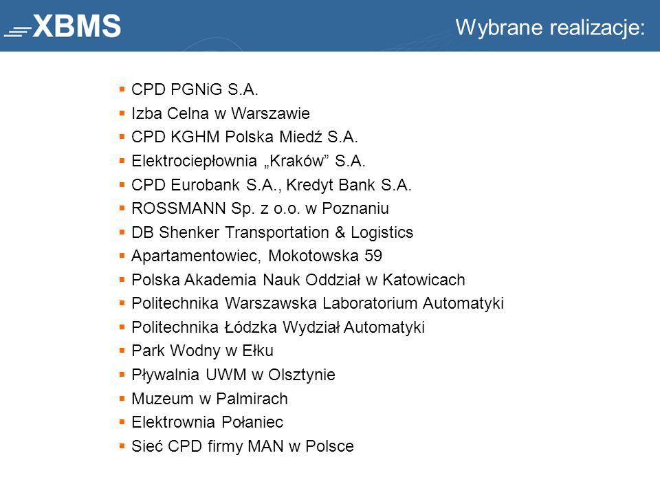 Wybrane realizacje: CPD PGNiG S.A. Izba Celna w Warszawie