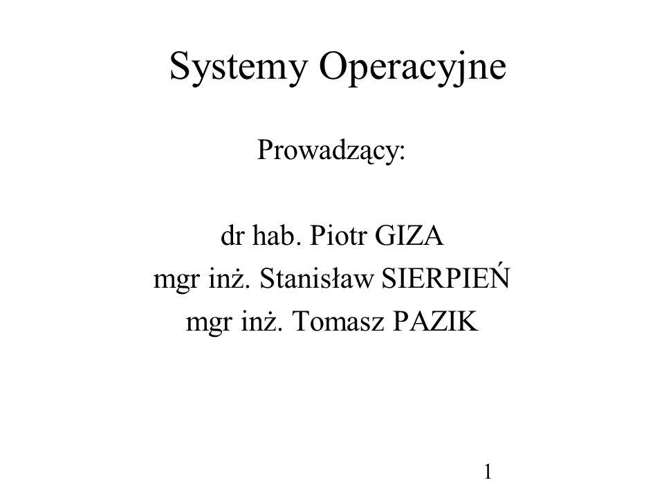 mgr inż. Stanisław SIERPIEŃ