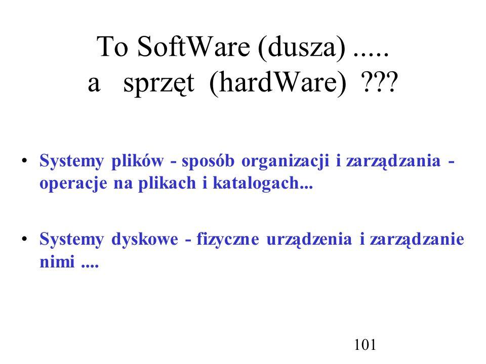 To SoftWare (dusza) ..... a sprzęt (hardWare)