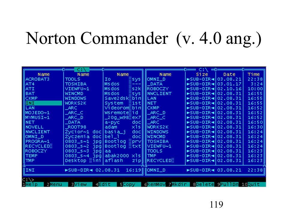 Norton Commander (v. 4.0 ang.)