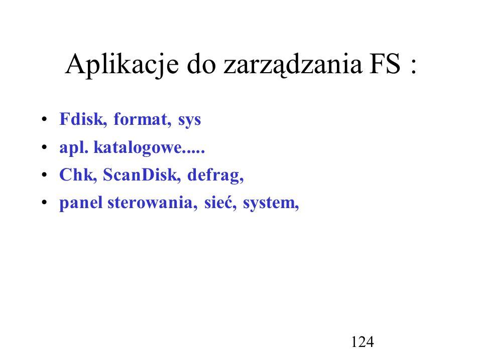 Aplikacje do zarządzania FS :