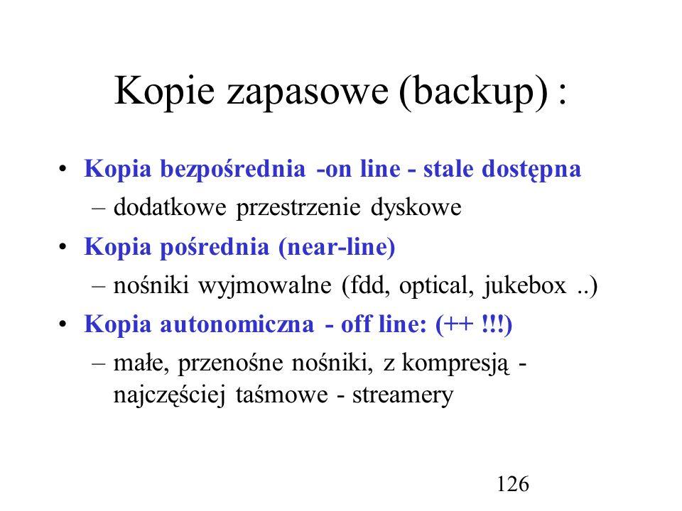 Kopie zapasowe (backup) :