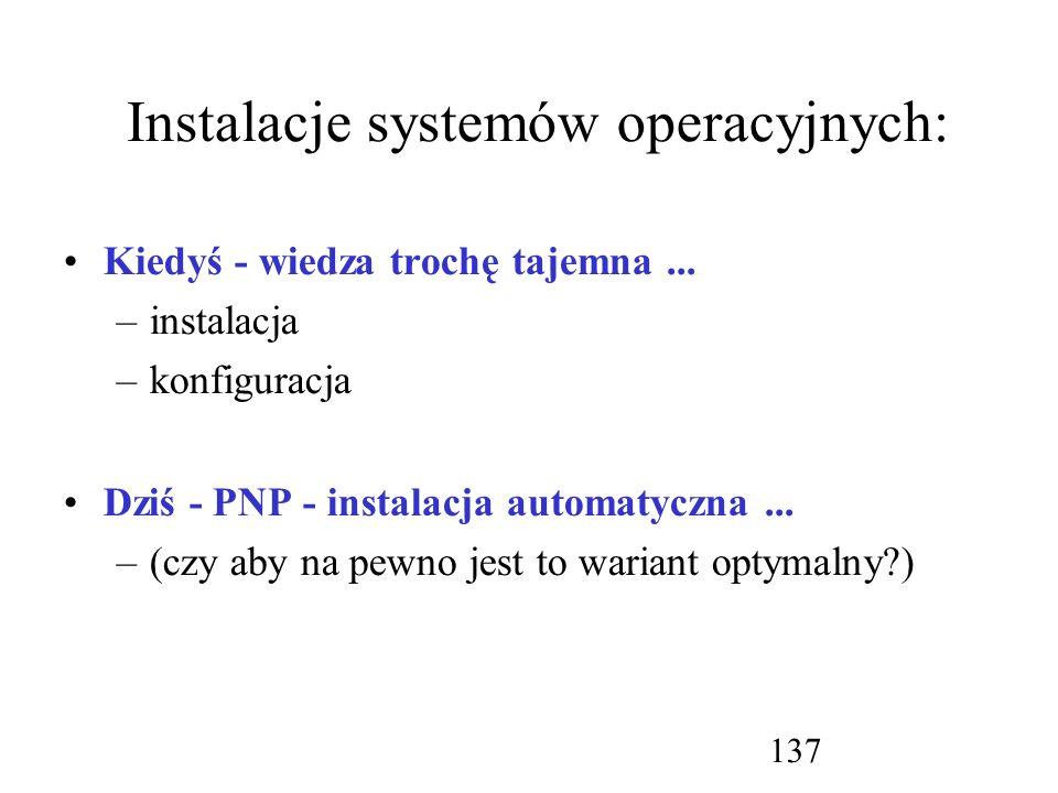 Instalacje systemów operacyjnych: