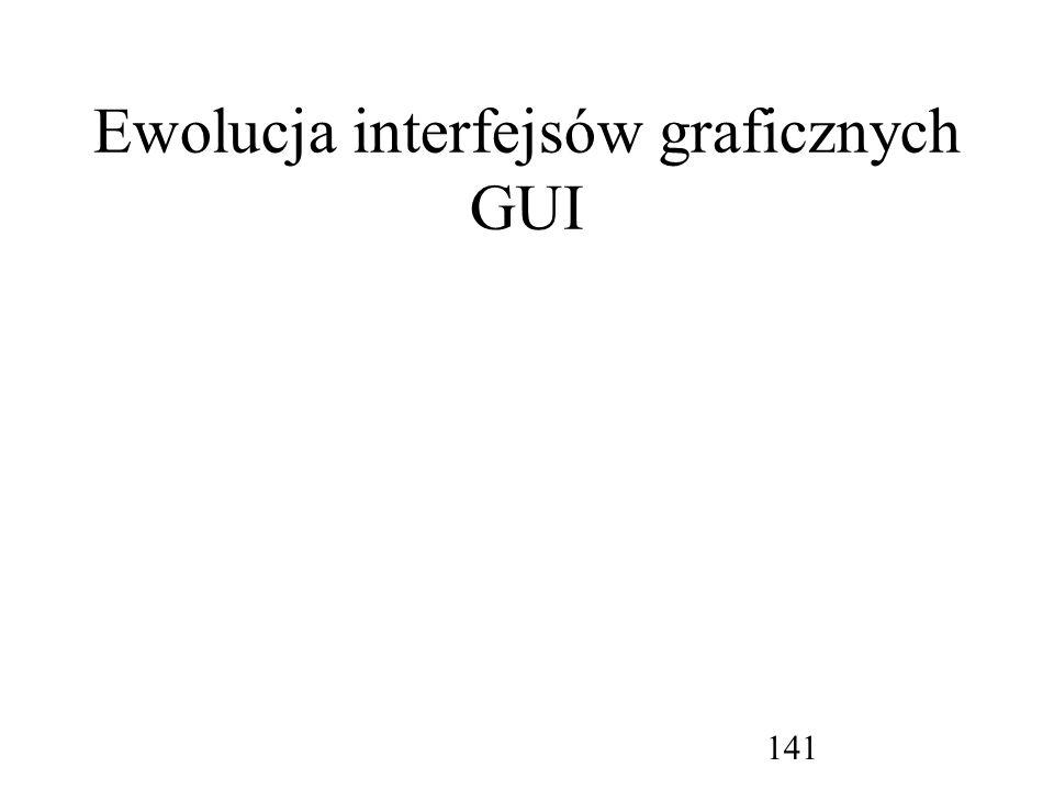 Ewolucja interfejsów graficznych GUI