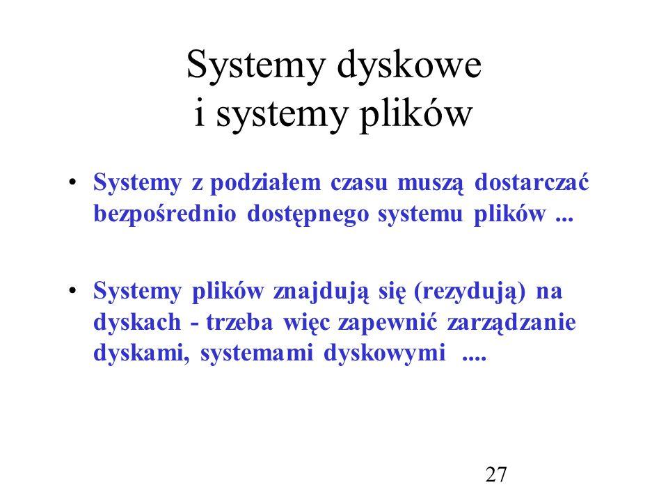 Systemy dyskowe i systemy plików
