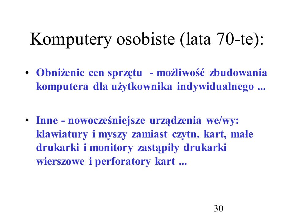 Komputery osobiste (lata 70-te):