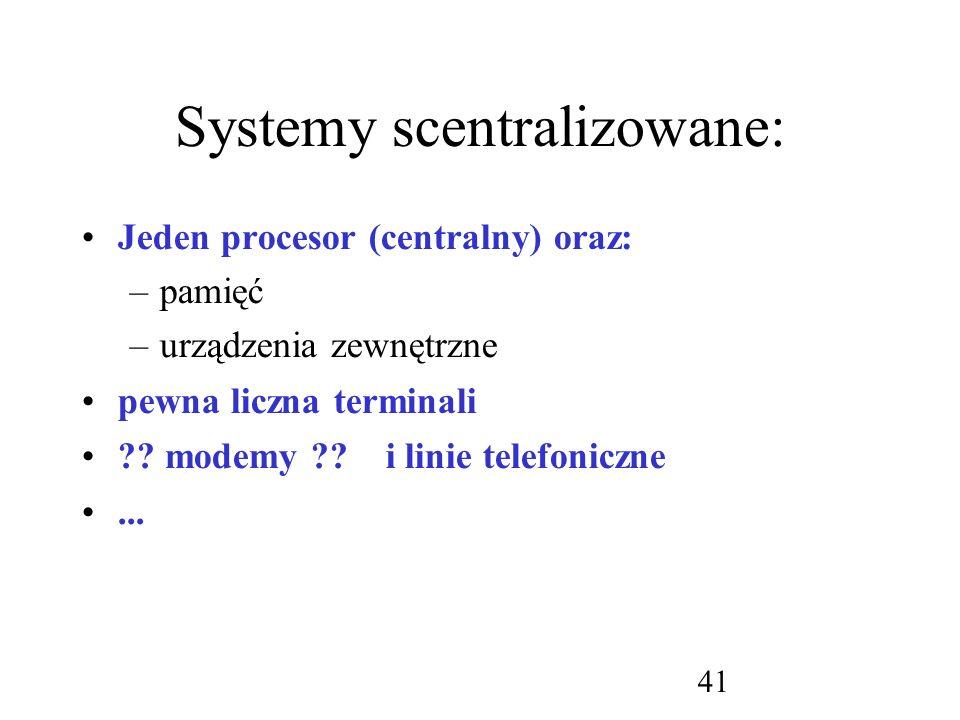 Systemy scentralizowane: