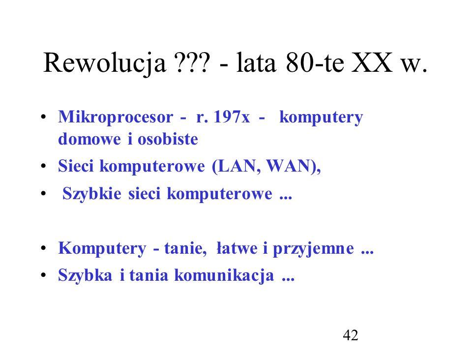 Rewolucja - lata 80-te XX w.