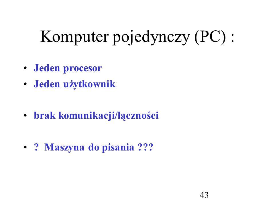 Komputer pojedynczy (PC) :