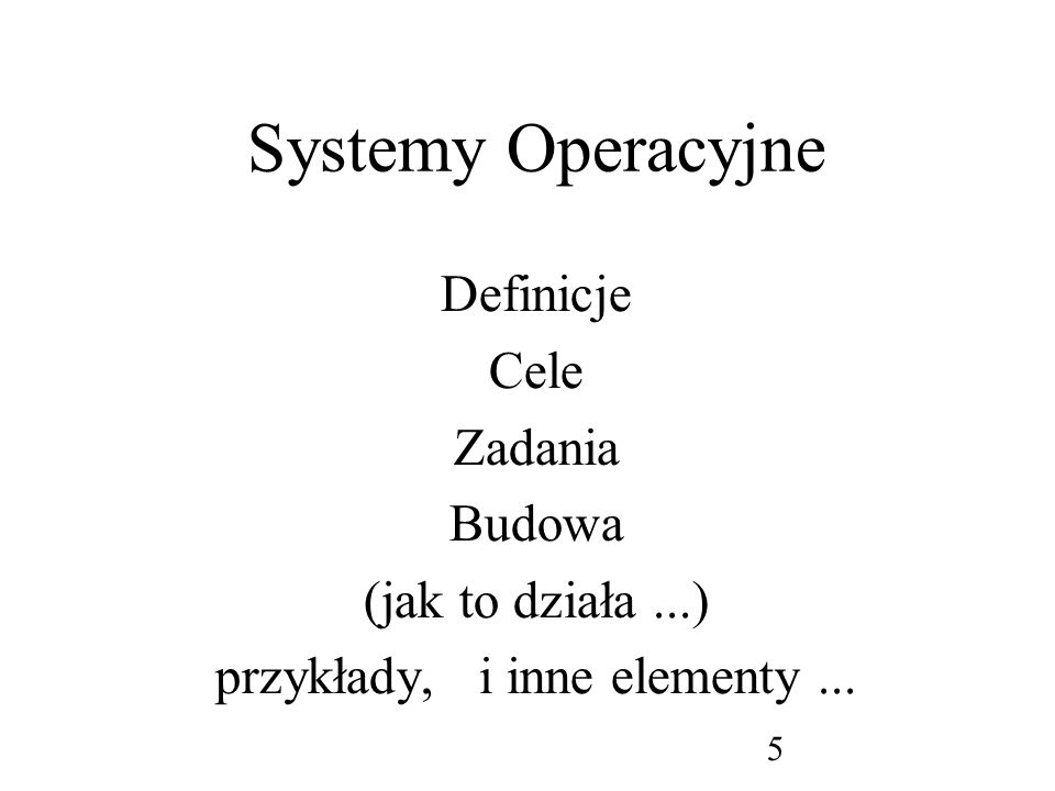 przykłady, i inne elementy ...