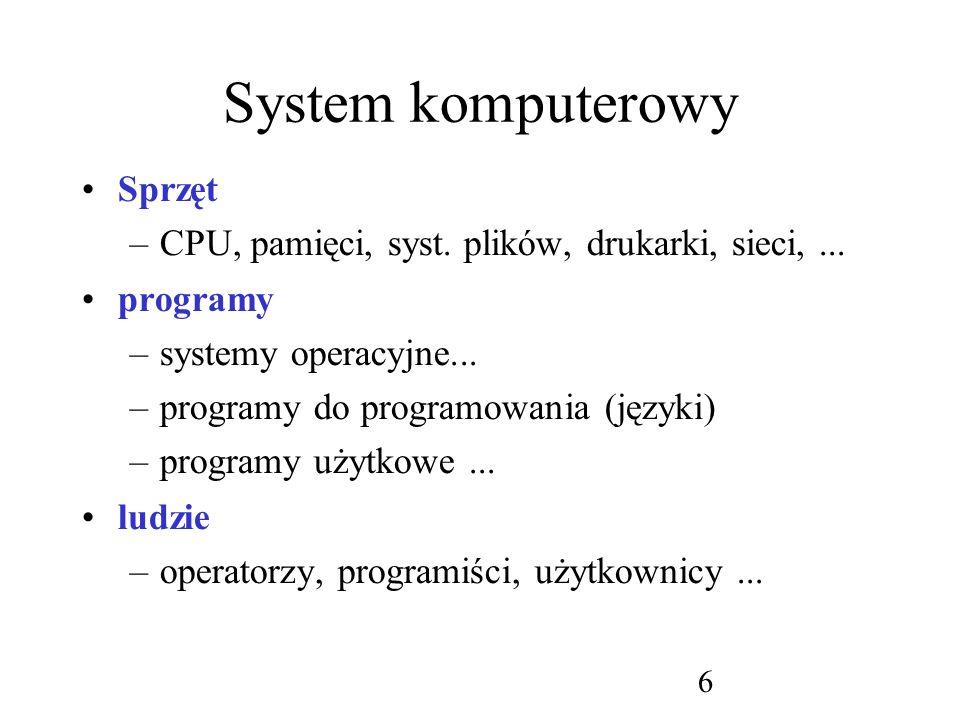 System komputerowy Sprzęt