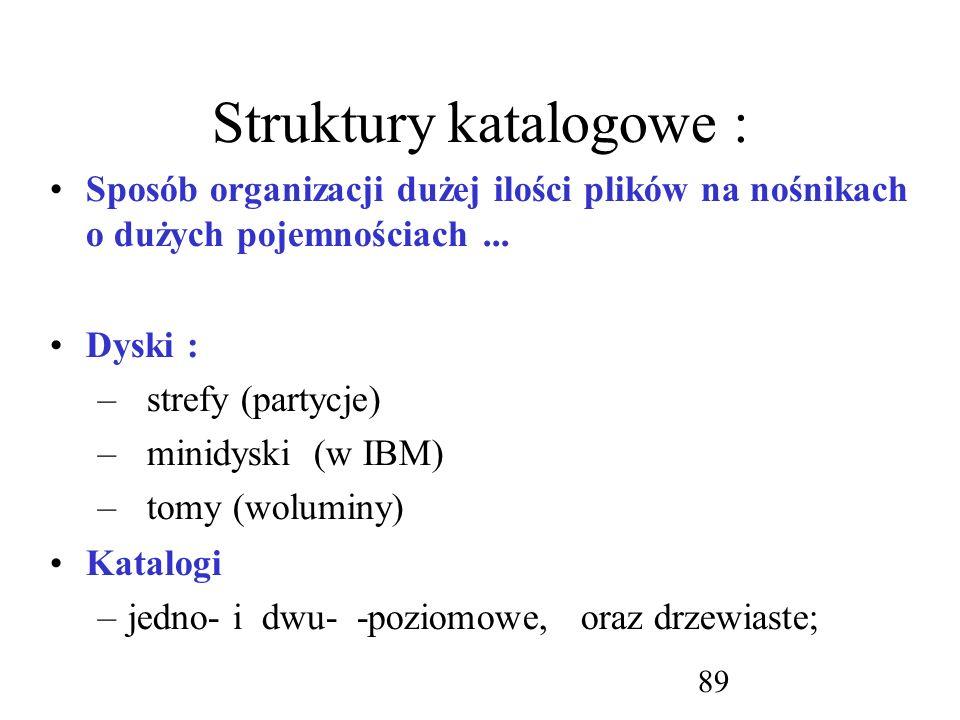 Struktury katalogowe :