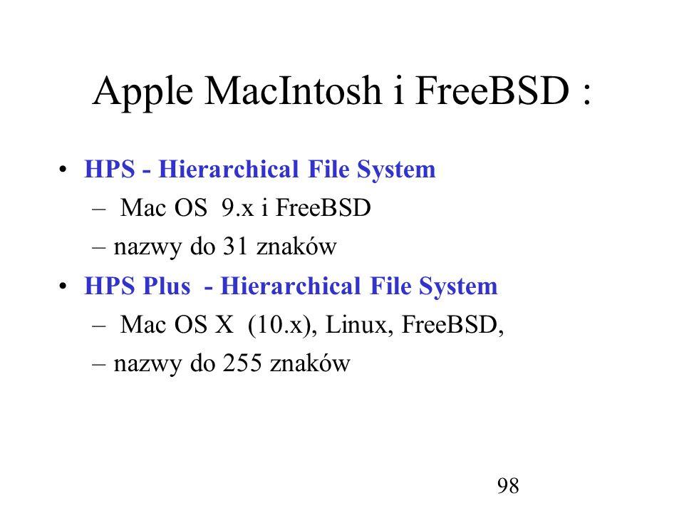 Apple MacIntosh i FreeBSD :