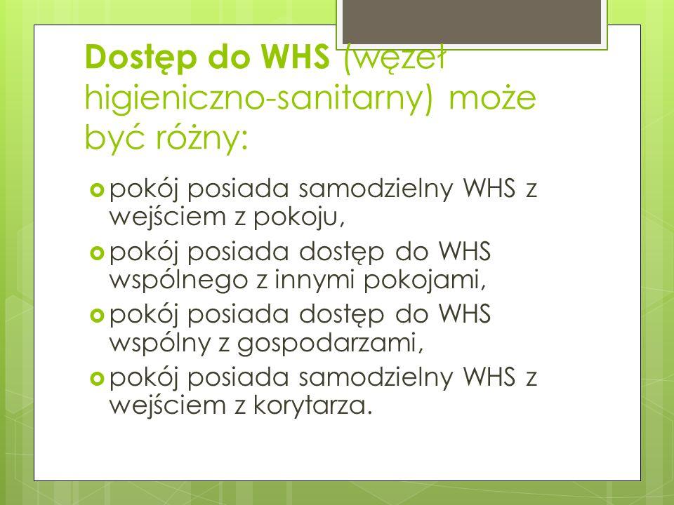 Dostęp do WHS (węzeł higieniczno-sanitarny) może być różny: