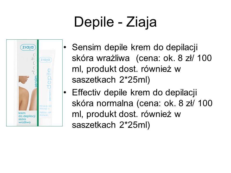 Depile - Ziaja Sensim depile krem do depilacji skóra wrażliwa (cena: ok. 8 zł/ 100 ml, produkt dost. również w saszetkach 2*25ml)