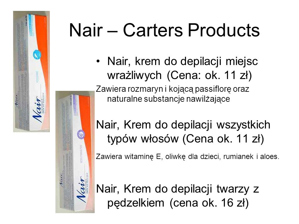 Nair – Carters Products