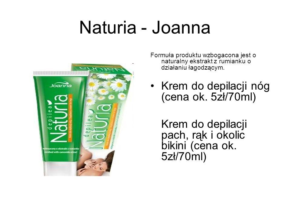 Naturia - Joanna Krem do depilacji nóg (cena ok. 5zł/70ml)