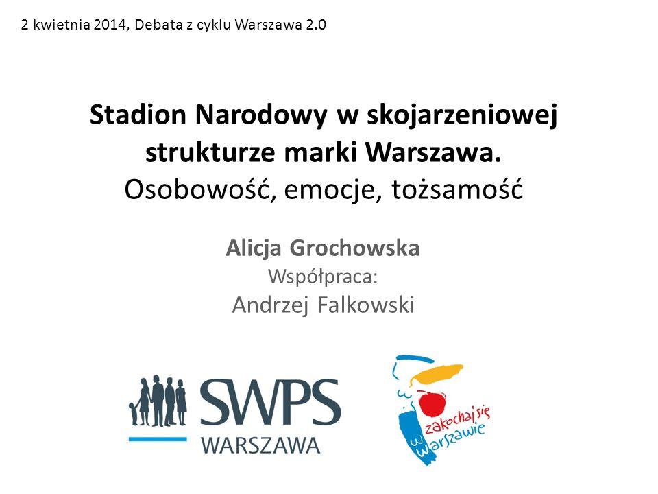 Stadion Narodowy w skojarzeniowej strukturze marki Warszawa.