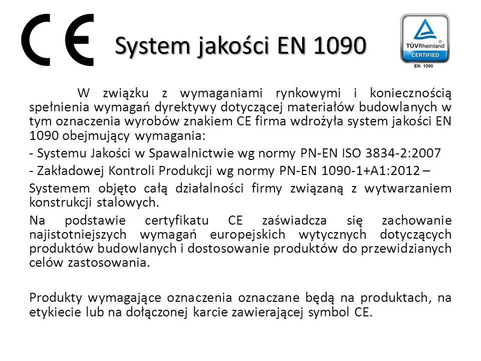 System jakości EN 1090