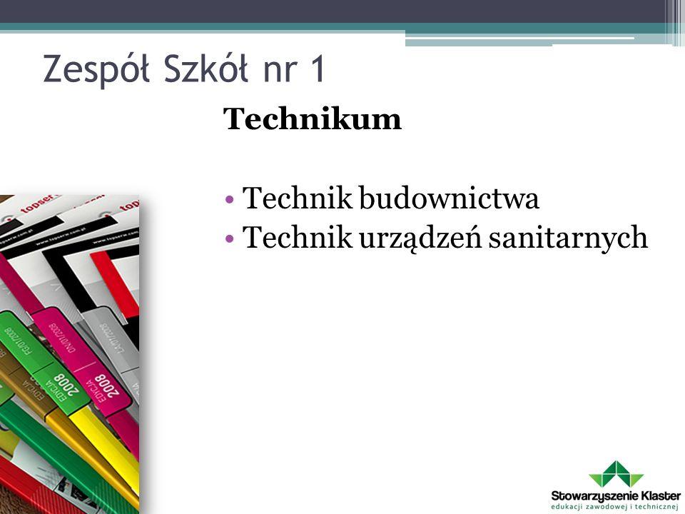 Zespół Szkół nr 1 Technikum Technik budownictwa