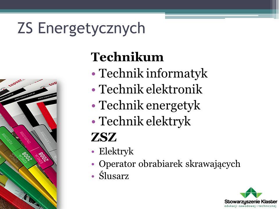 ZS Energetycznych Technikum Technik informatyk Technik elektronik