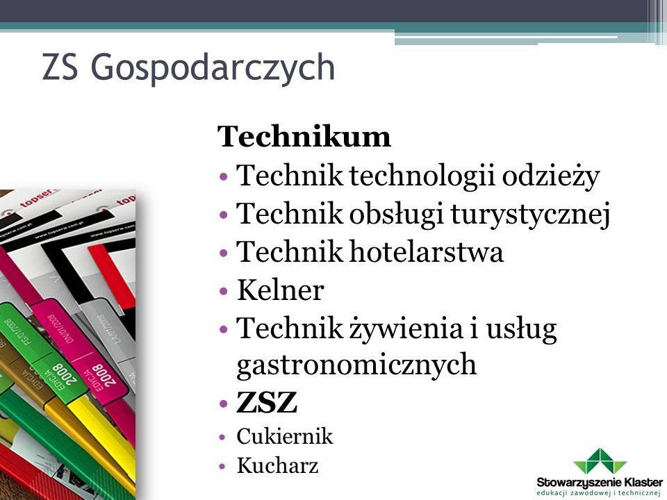 ZS Gospodarczych Technikum Technik technologii odzieży