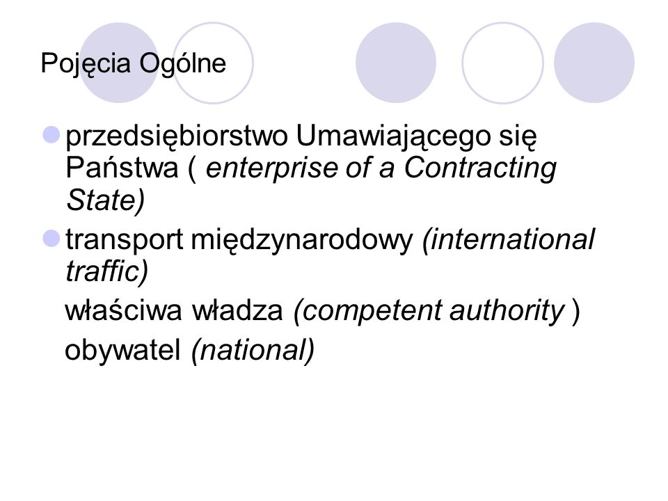 transport międzynarodowy (international traffic)