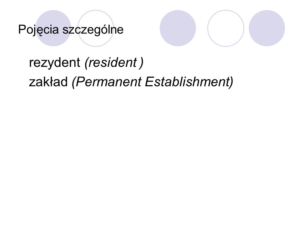 zakład (Permanent Establishment)