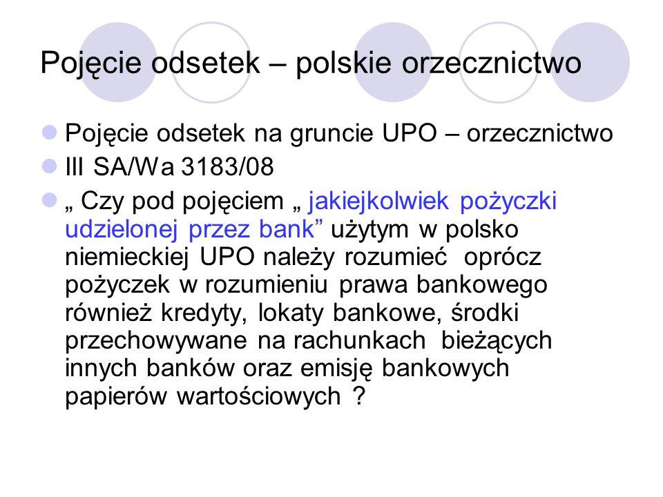 Pojęcie odsetek – polskie orzecznictwo