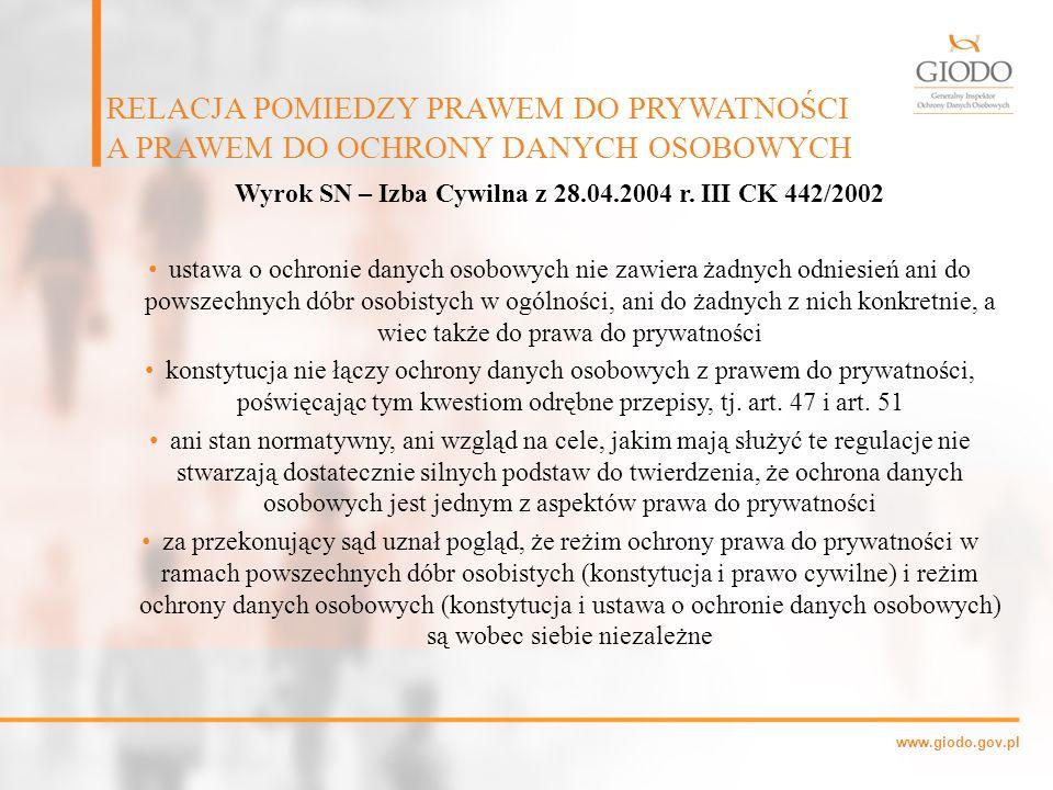 Wyrok SN – Izba Cywilna z 28.04.2004 r. III CK 442/2002