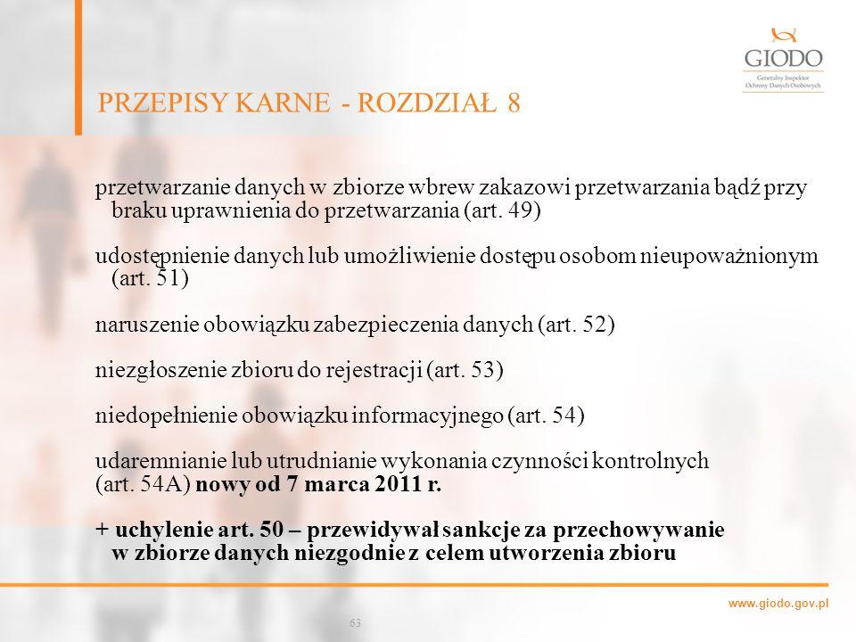 PRZEPISY KARNE - ROZDZIAŁ 8 