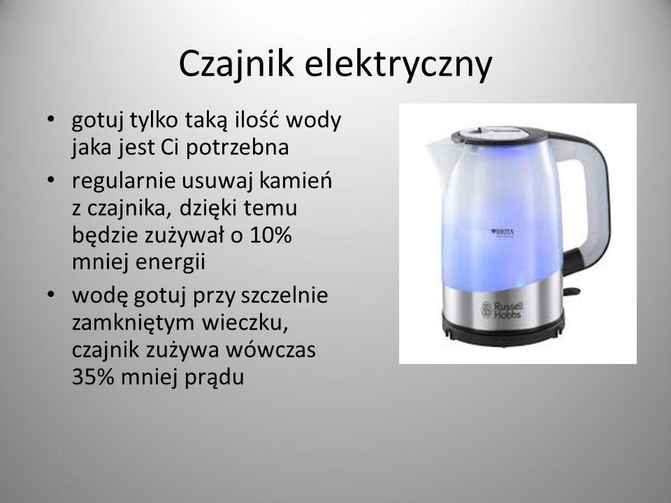 Czajnik elektryczny gotuj tylko taką ilość wody jaka jest Ci potrzebna